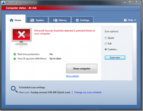 10 e1266575895702 Microsoft Security Essential   Free Virus Remover Tool from Microsoft Team