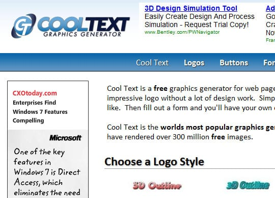 Cooltext 9 Best Websites For Designing Your Logos Online For Free