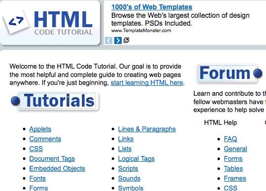 HtmlCodeTutorial