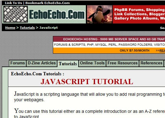 echoecho 15 Best Websites that can make you a Web Designer
