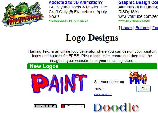 flamingtext1 9 Best Websites For Designing Your Logos Online For Free