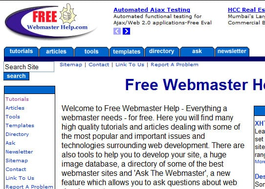 freewebmaster 15 Best Websites that can make you a Web Designer