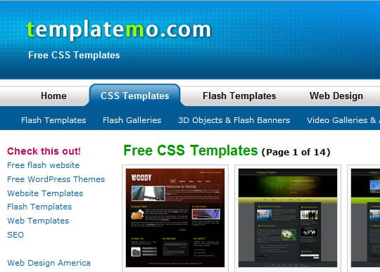 best sites for html css templates