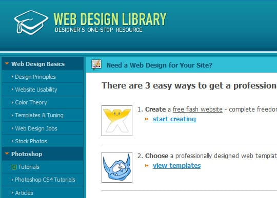 webdesignerlibrary 15 Best Websites that can make you a Web Designer