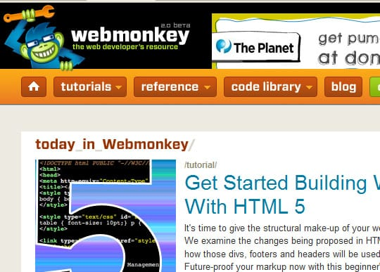 webmonkey 15 Best Websites that can make you a Web Designer