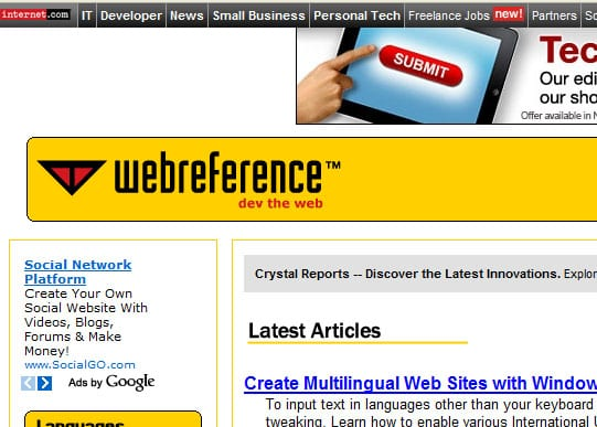 webrefrence 15 Best Websites that can make you a Web Designer