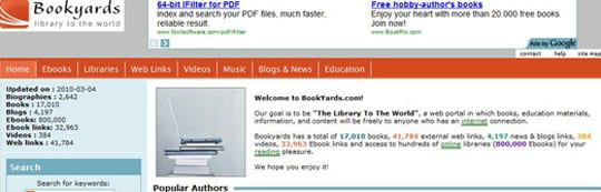 Bookyards 30 siti dove poter scaricare ebook gratis