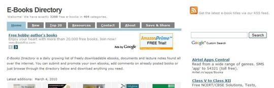 EBooksDirectory 30 siti dove poter scaricare ebook gratis