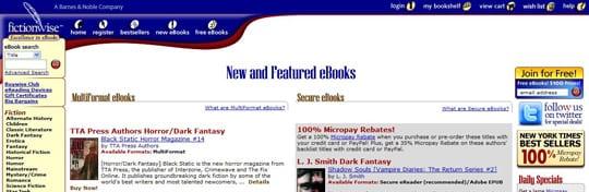 FictionwiseeBooks 30 siti dove poter scaricare ebook gratis