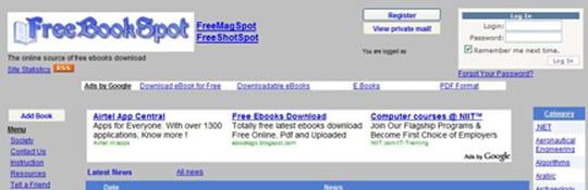 FreeBookSpot 30 siti dove poter scaricare ebook gratis