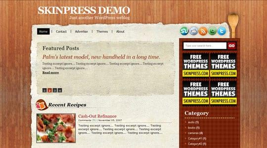Skinpress Demo 1267783284040 ওয়ার্ডপ্রেস এর জটিল ৫০টি নতুন থিম ফ্রী ডাউনলোড [ডেমো সহ]
