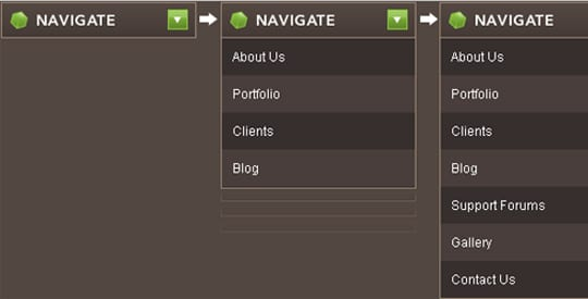 Animated Drop Down Menu with jQuery
