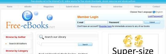 freeEbooks 30 siti dove poter scaricare ebook gratis