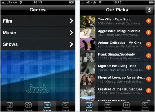 Joost Top 6 Free iPhone Apps to Watch TV Shows and Movies Online