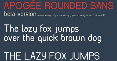 apogee rounded sans beta e1275121523420 30 Creative And High Quality Typography Fonts For Free Download