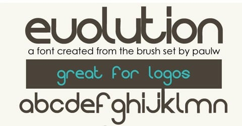 evolution 30 Creative And High Quality Typography Fonts For Free Download