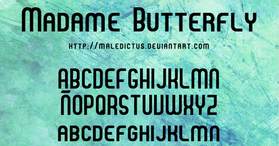 madame butterfly 30 Creative And High Quality Typography Fonts For Free Download