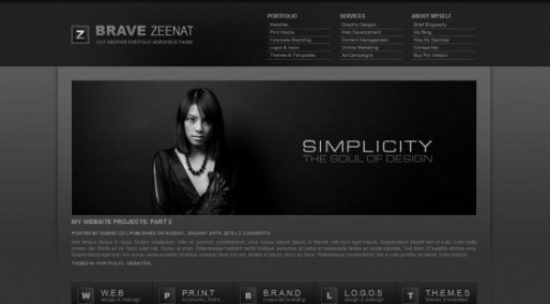 20 High Quality Black Color Wordpress Themes For Free Download
