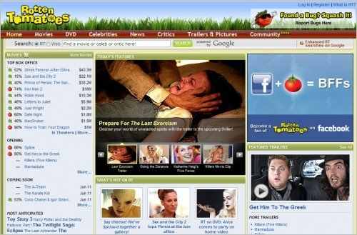 rotten tomatoes e1275379823988 Top 10 Social Networking Websites For Movie Lovers
