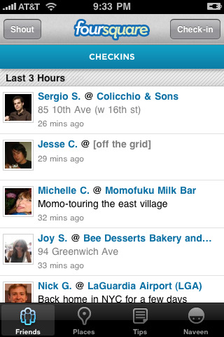 foursquare 42 Best And Free iOS 4 Apps For Your iPhone