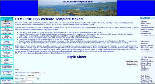 html template generator software free