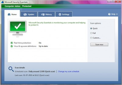 microsoft security essentials e1278101576490 Top 10 Free Microsoft Products Worth Checking Out