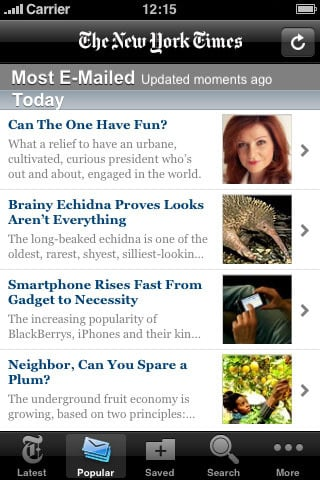 nytimes 42 Best And Free iOS 4 Apps For Your iPhone