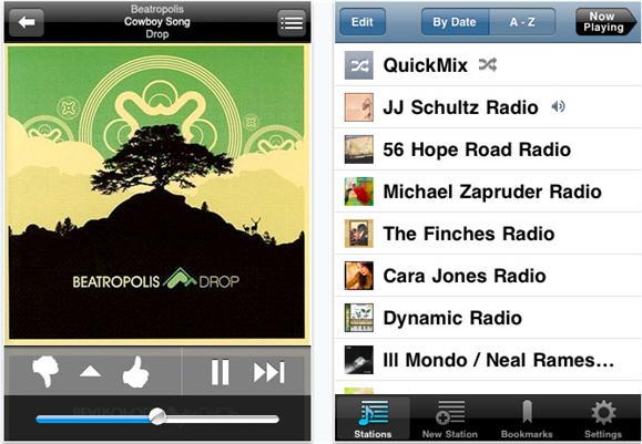 pandora on ipad2 Top 10 Best And Free Music iPad Apps