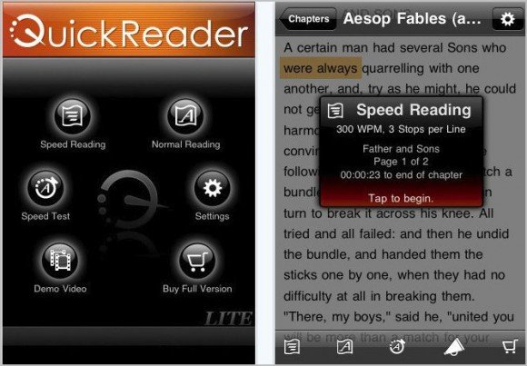 quick reader e1278746513466 Top 10 Best And Free E Book Reader Apps For Your iPhone