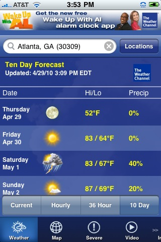 the weather channel 42 Best And Free iOS 4 Apps For Your iPhone