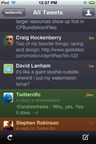 twitterific 42 Best And Free iOS 4 Apps For Your iPhone
