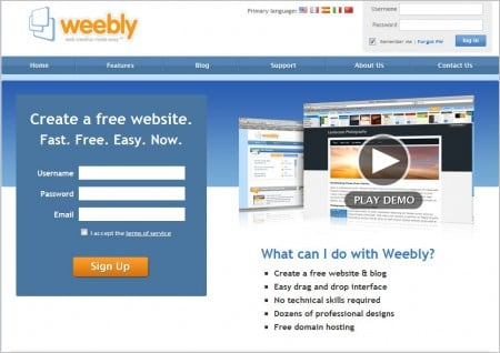 9 best and free online template generators for websites or for Weebly site templates