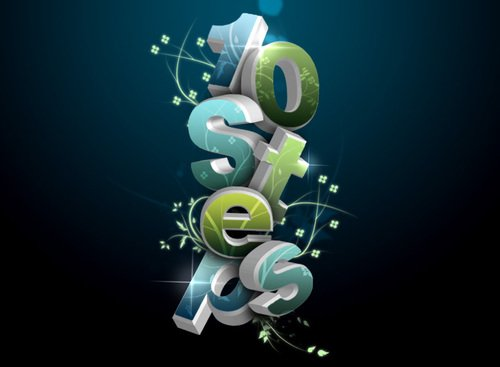photoshope-text-effect-3D_flowery_text_effect