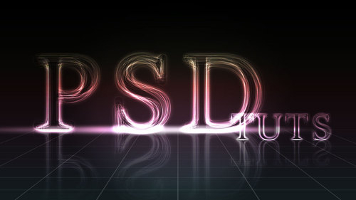 photoshope-text-effect-layered glowing text effect