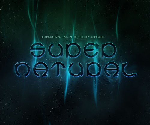 photoshope-text-effect-Supernatural text effect
