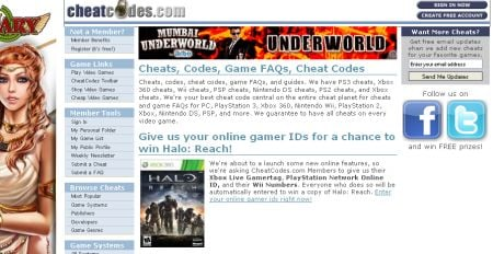 Game Cheat Code Websites