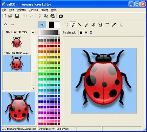 image editor icon. 3) aaICO – Freeware Icon Editor : aaICO – This is a Free Icon Editor that