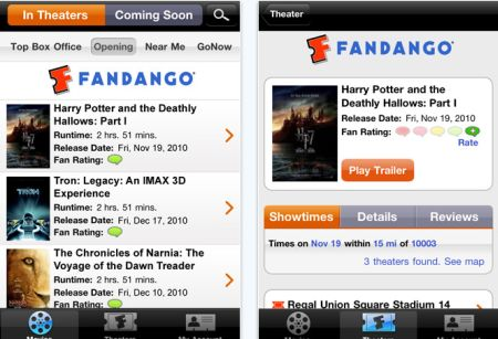 fandango Top 100 Best Free iPhone 4 Apps