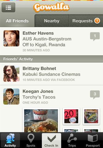 gowalla Top 100 Best Free iPhone 4 Apps