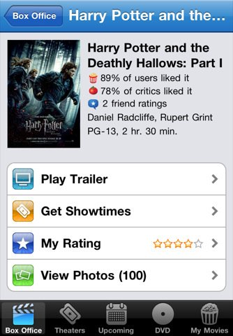 movies app Top 100 Best Free iPhone 4 Apps