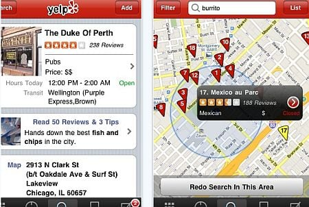 yelp Top 100 Best Free iPhone 4 Apps