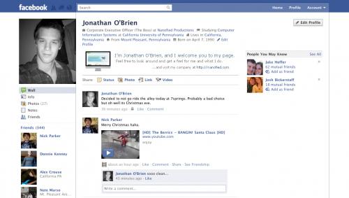 Facebook Profile Page Design