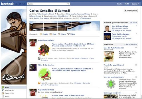 Facebook Profile Page Design