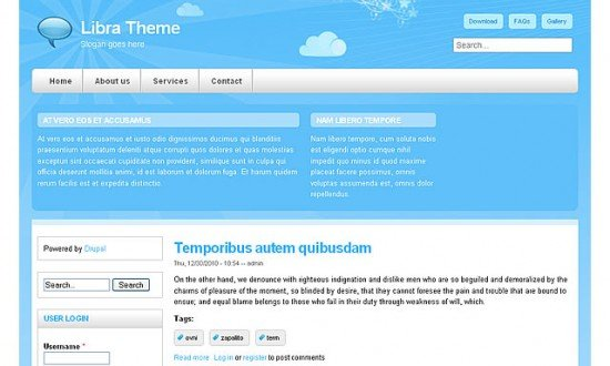 best free drupal theme17 e1300083250264 40 High Quality Drupal Themes For Free Download