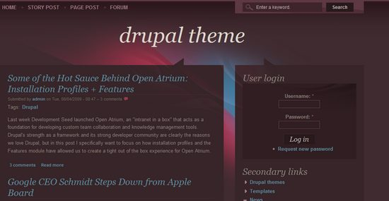 best free drupal theme18 40 High Quality Drupal Themes For Free Download