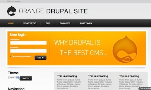 best free drupal theme22 40 High Quality Drupal Themes For Free Download