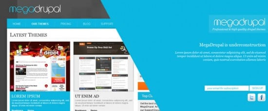 best free drupal theme29 e1300085009164 40 High Quality Drupal Themes For Free Download