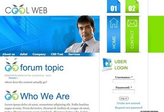 best free drupal theme33 40 High Quality Drupal Themes For Free Download