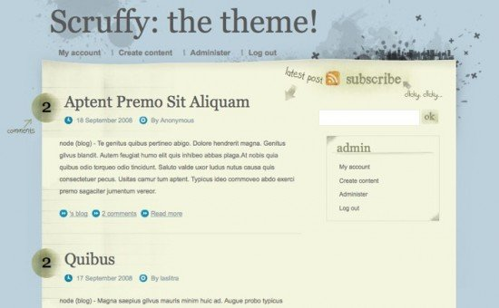 best free drupal theme37 e1300086126820 40 High Quality Drupal Themes For Free Download