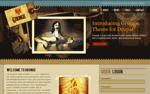 best free drupal theme39 e1300088048795 40 High Quality Drupal Themes For Free Download